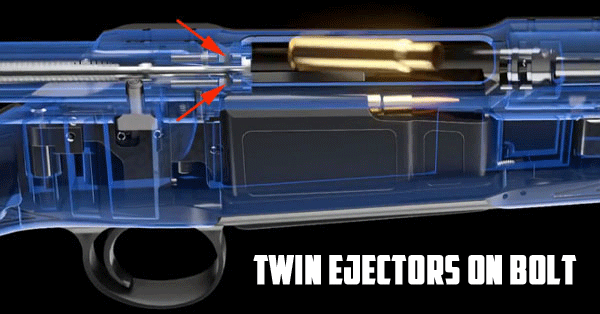 sauer 101 twin ejectors on bolt