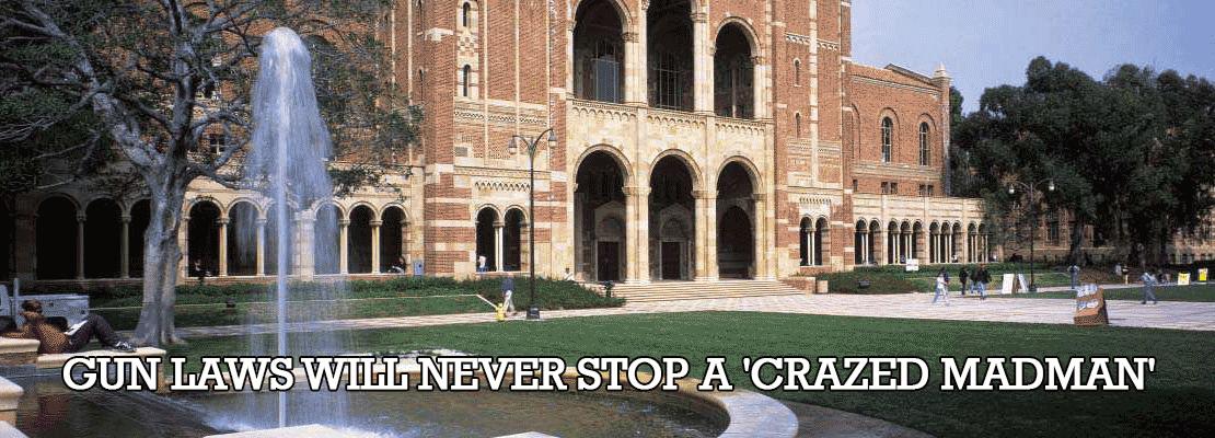 UCLA Professor: Gun Laws Will Never Stop A 'Crazed Madman'