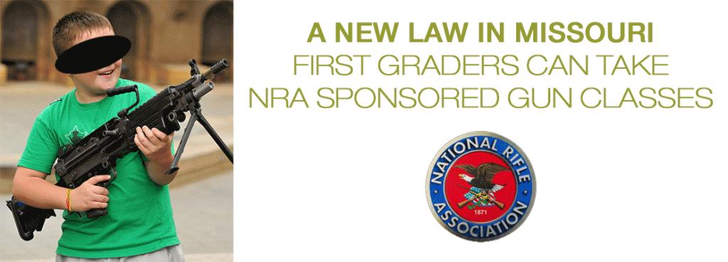A new gun law in Missouri – NRA sponsored gun classes for kids