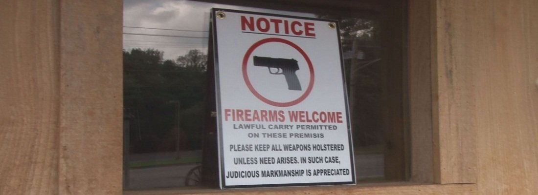 firearms are welcome