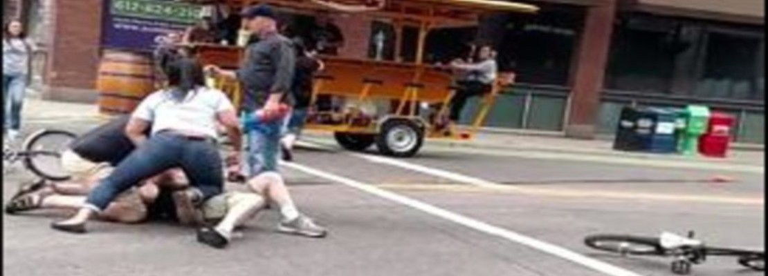 PedalPubs Under Water Attack By Mad Max-Style Cyclist