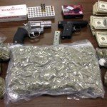 Guns, drugs and cash