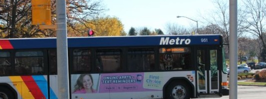 Bus stopped for report of teens with guns
