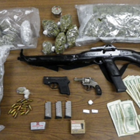 Ten arrests in Jersey City, Guns and Drugs Seized